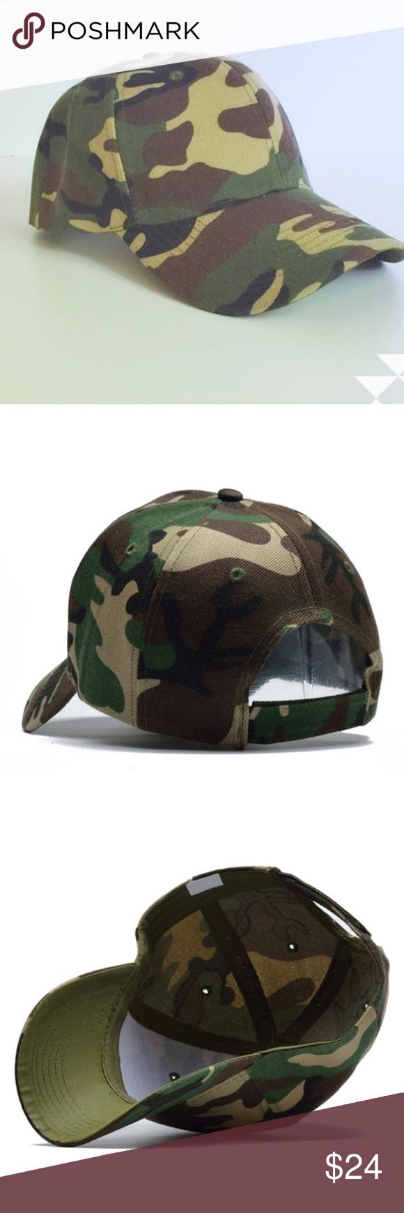 Camo Baseball Hat Cap Adjustable Unisex New Women Accessories Hats Camo Baseball Hat Unisex