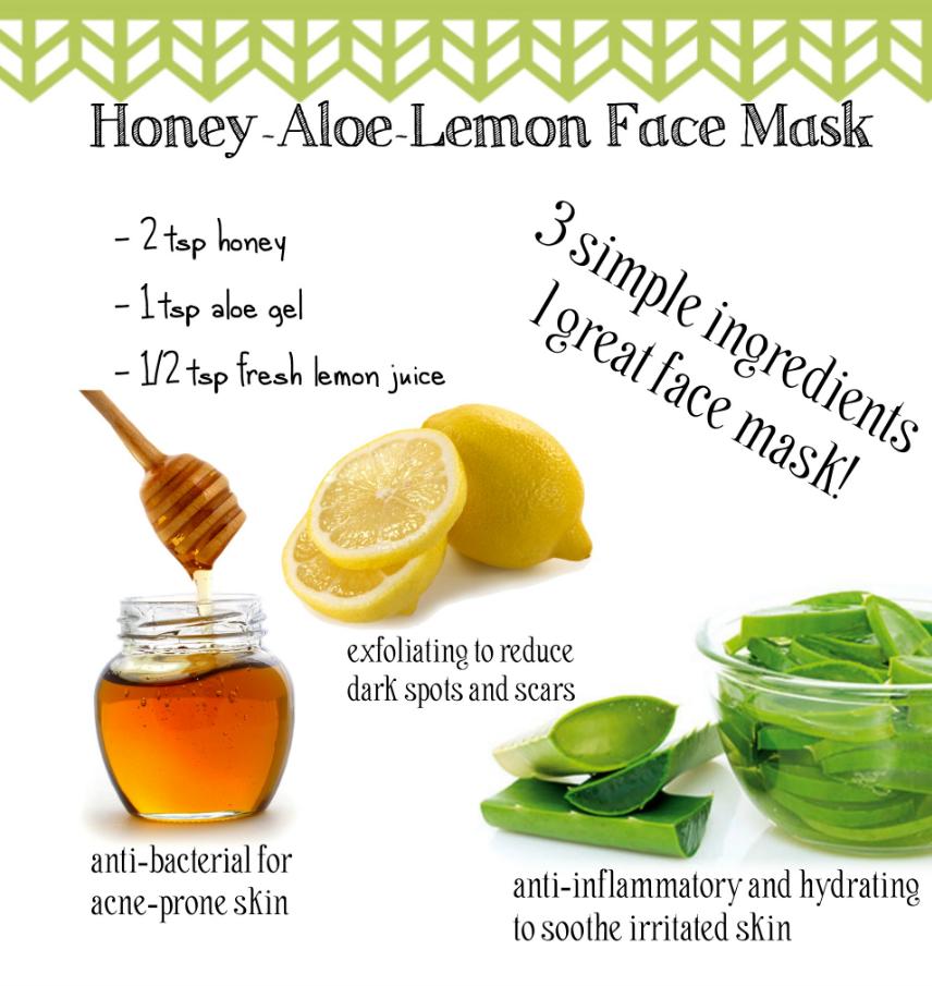 Lemon and aloe vera face mask