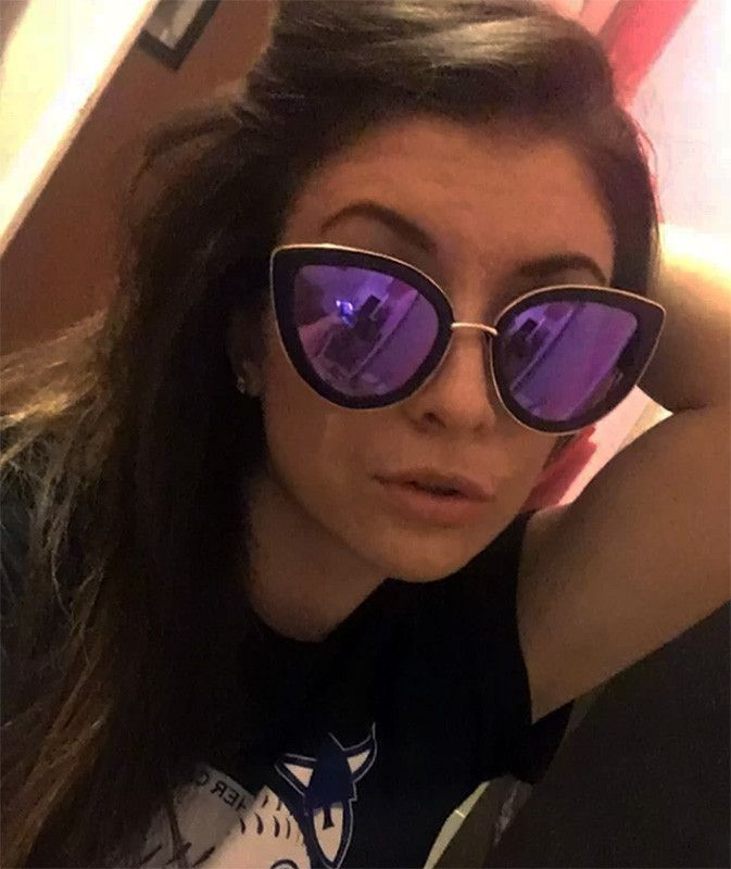 0debbaa631f Oversized cat eye sunglasses. Big cat eye sunglasses with metal bridge.  Various gorgeous revo mirrored rainbow lenses. 100% UVA UVB protection.