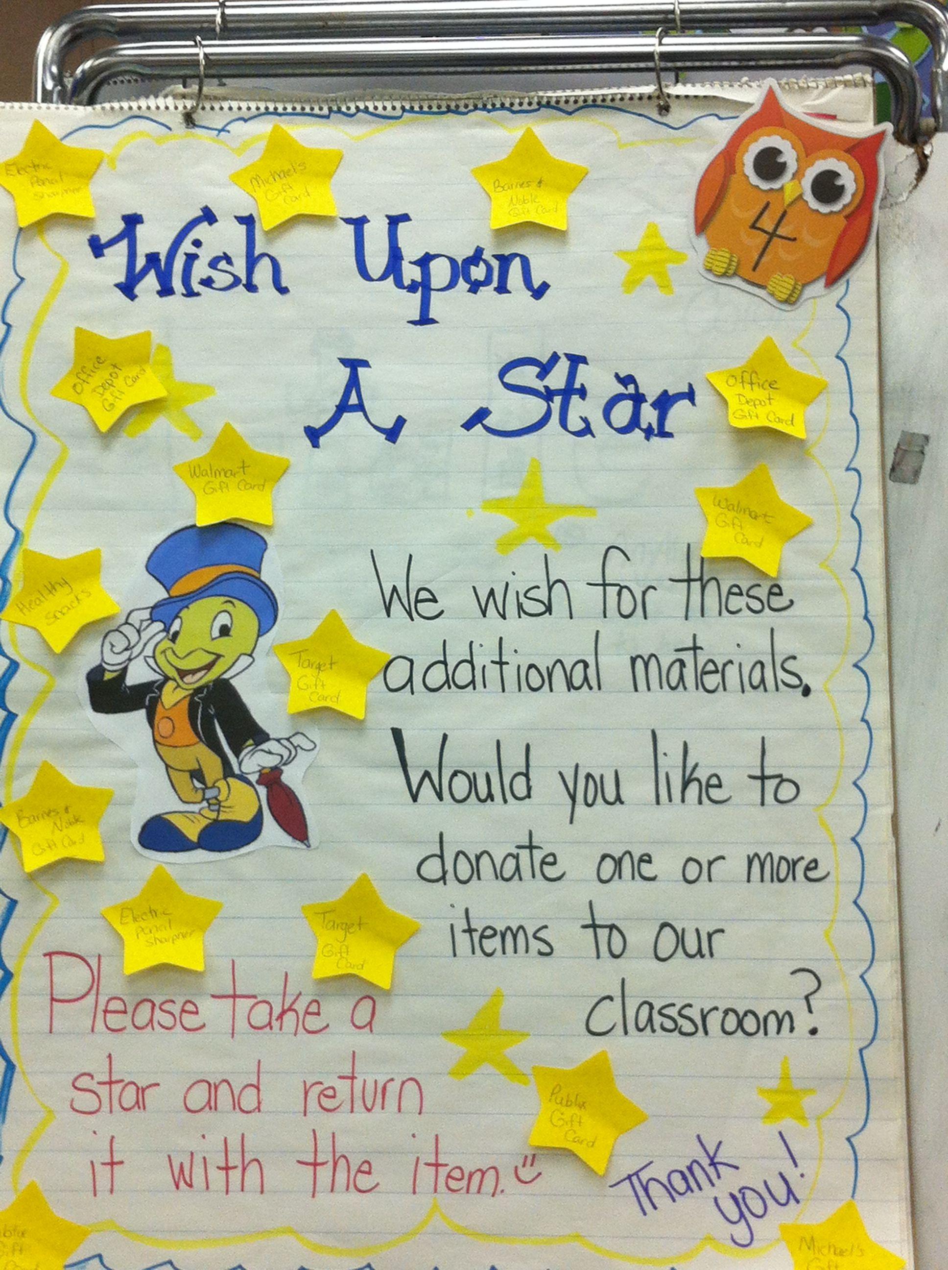 Classroom Wish List Disney Classroom Preschool