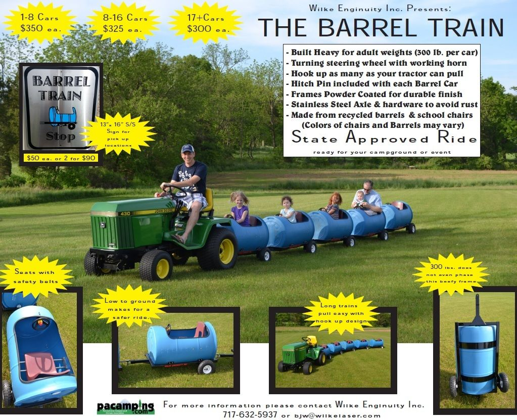 how to make barrel train cars
