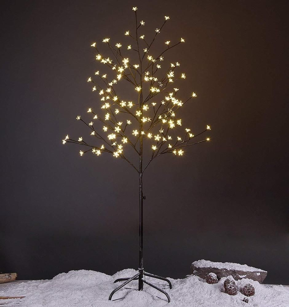 Details About Flower Tree Lamp Standing Led Tree Winter Christmas Indoor Outdoor Decor 5 Feet Led Star Lights Tree Lighting Light Up Tree