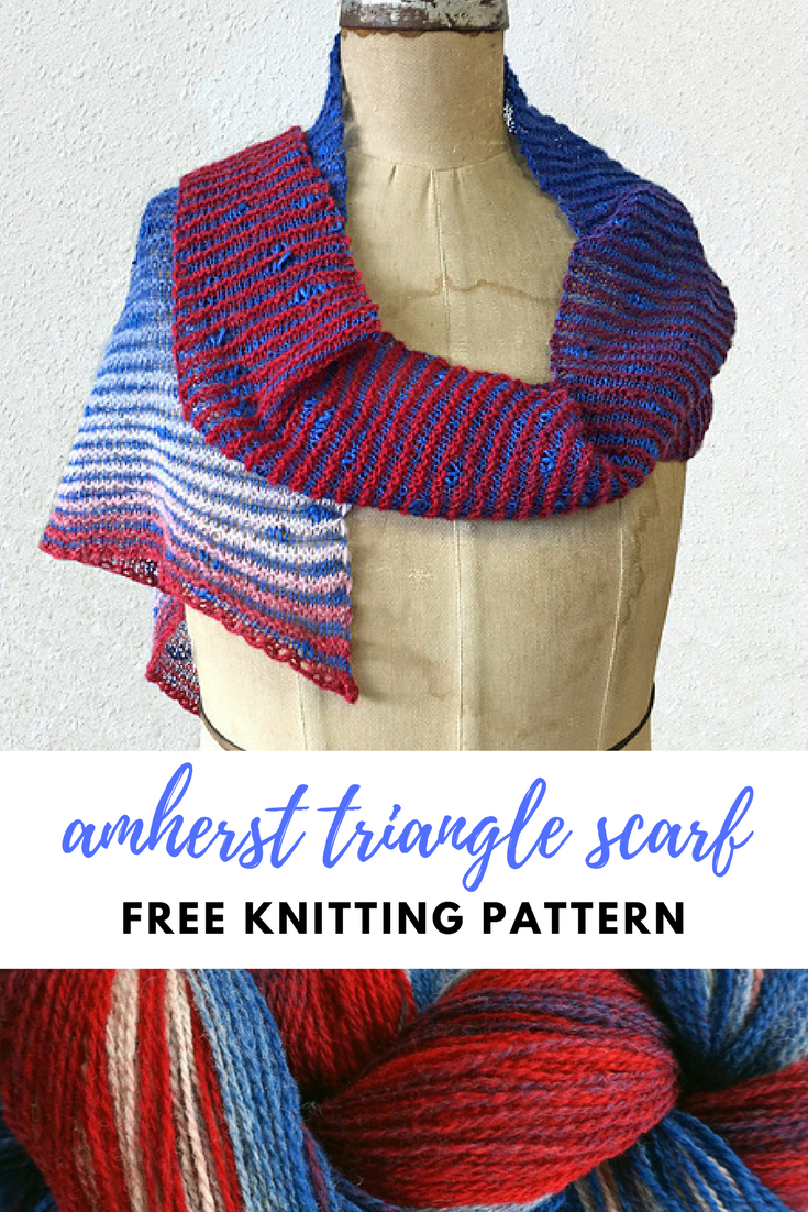 Amherst triangle scarf free knitting pattern free scarf knitting amherst triangle scarf free knitting pattern bankloansurffo Gallery