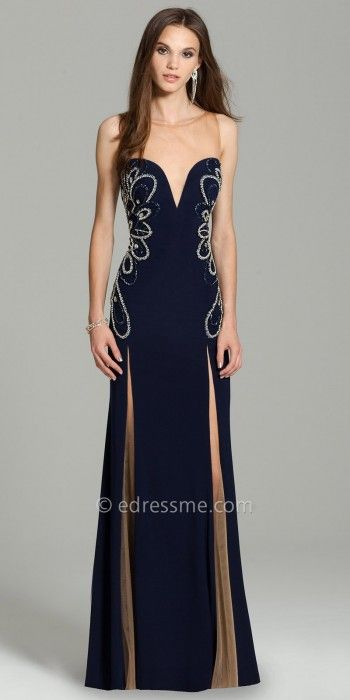 Floral Beaded Jersey Evening Dress By Camille La Vie #edressme ...