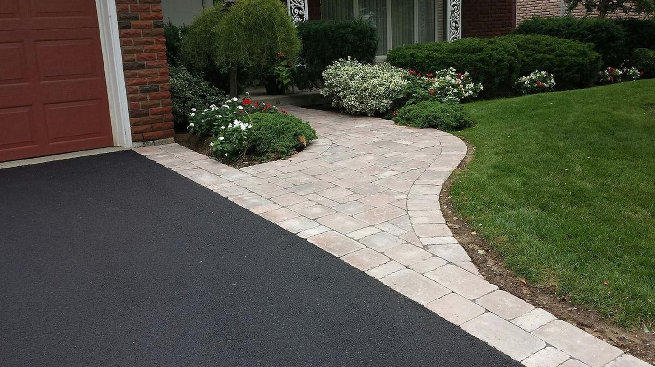 Image Result For Asphalt Driveway With Interlock Border