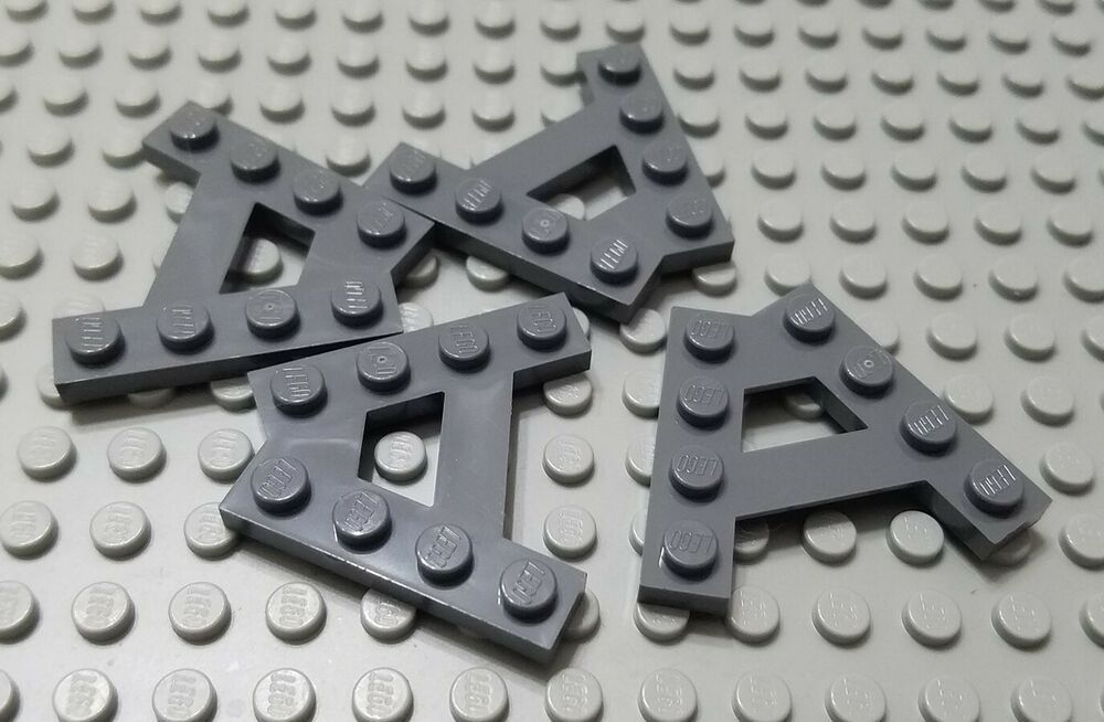 LEGO New Lot of 4 Dark Bluish Gray A Shaped Wedge Plate Pieces