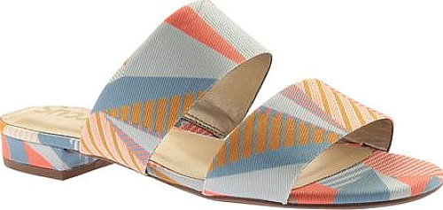 a879bf822 Circus by Sam Edelman Delaney Slide Sandal in Peach Multi Crazy Stripes  Print