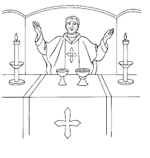Image Result For Catholic Priest Coloring Page Catholic Coloring Catholic Mass Catholic