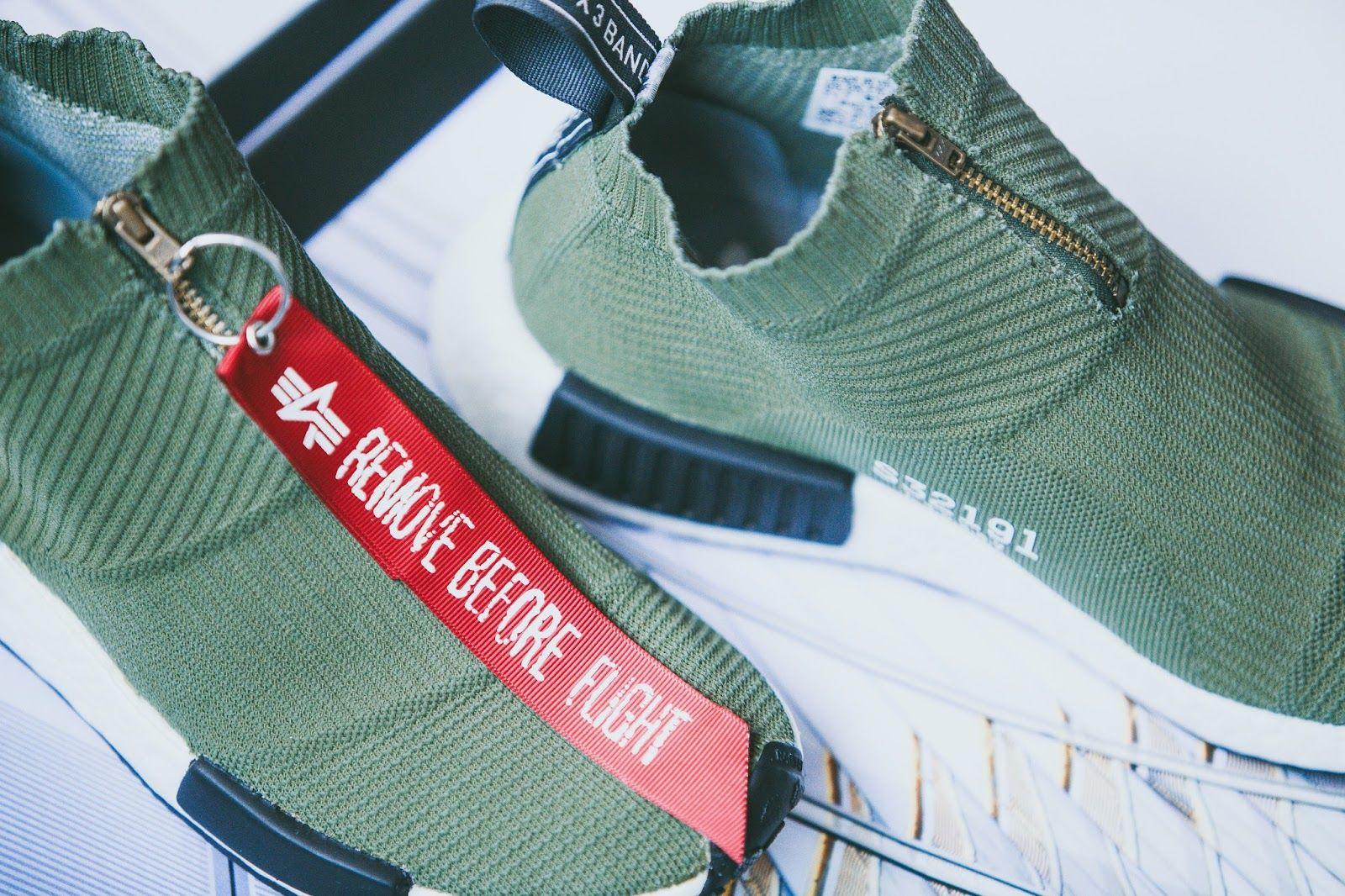 b9abca417  2 adidas NMD City Sock x Alpha Industries Custom