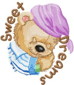 Old Toys Sweet Dreams My Baby machine embroidery design. Machine embroidery design. www.embroideres.com