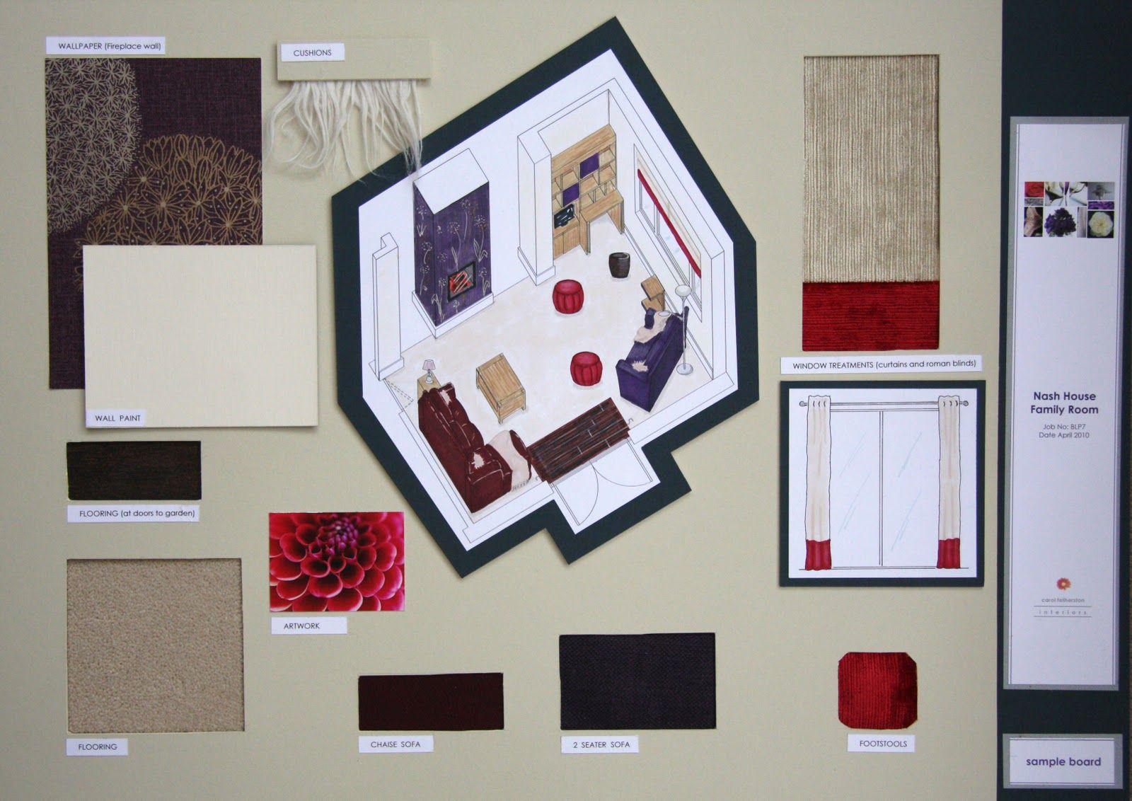 Interior Design Presentation Boards Examples Bespoke Shelving