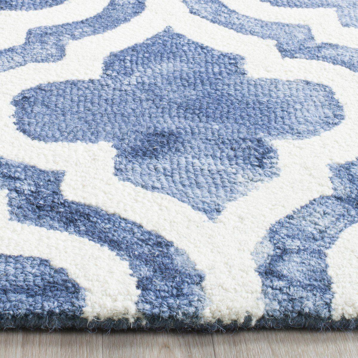 Safavieh Dip Dye Ddy537k Blue Ivory Wool Area Rugs Area Rugs Square Area Rugs