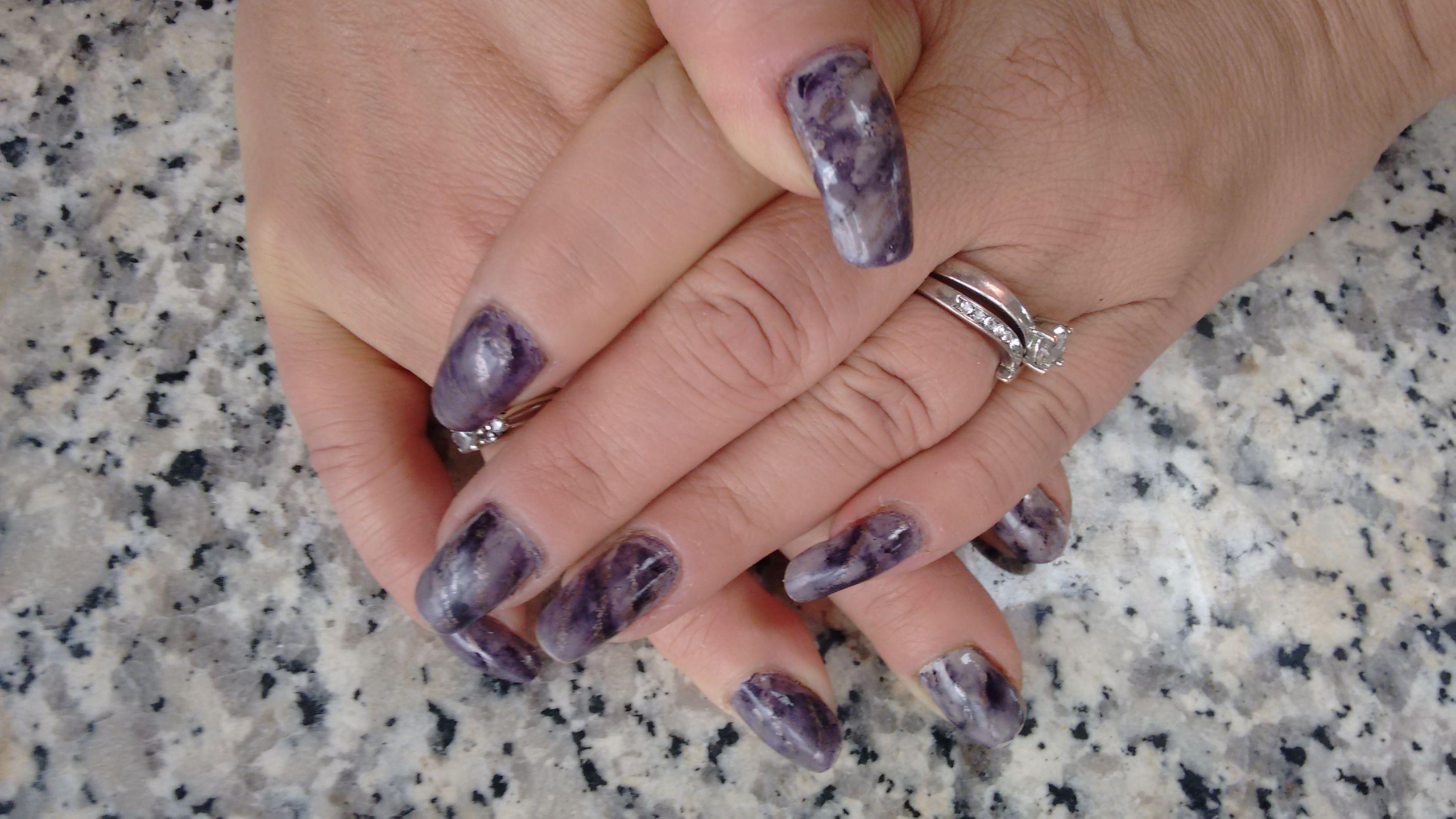 Marble design w/China Glaze regular polish & Sharpie marker   cool ...