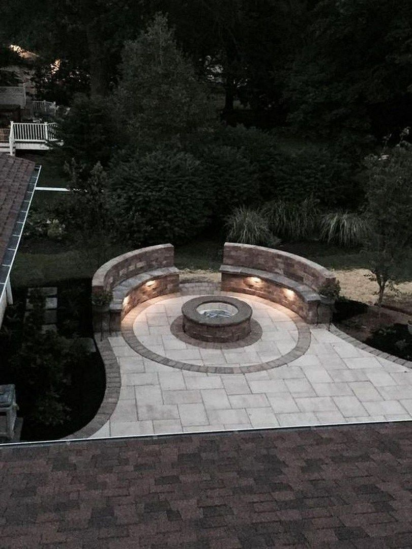 Photo of ✔ 60 small paver patio ideas pictures with fire pit 55 #firepitideas 60 Small …