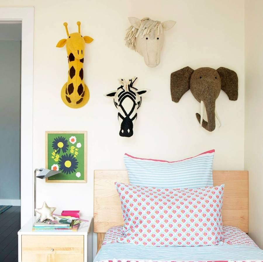 Decorative Felt Animal Heads For Childrens Bedrooms in 2019 ...
