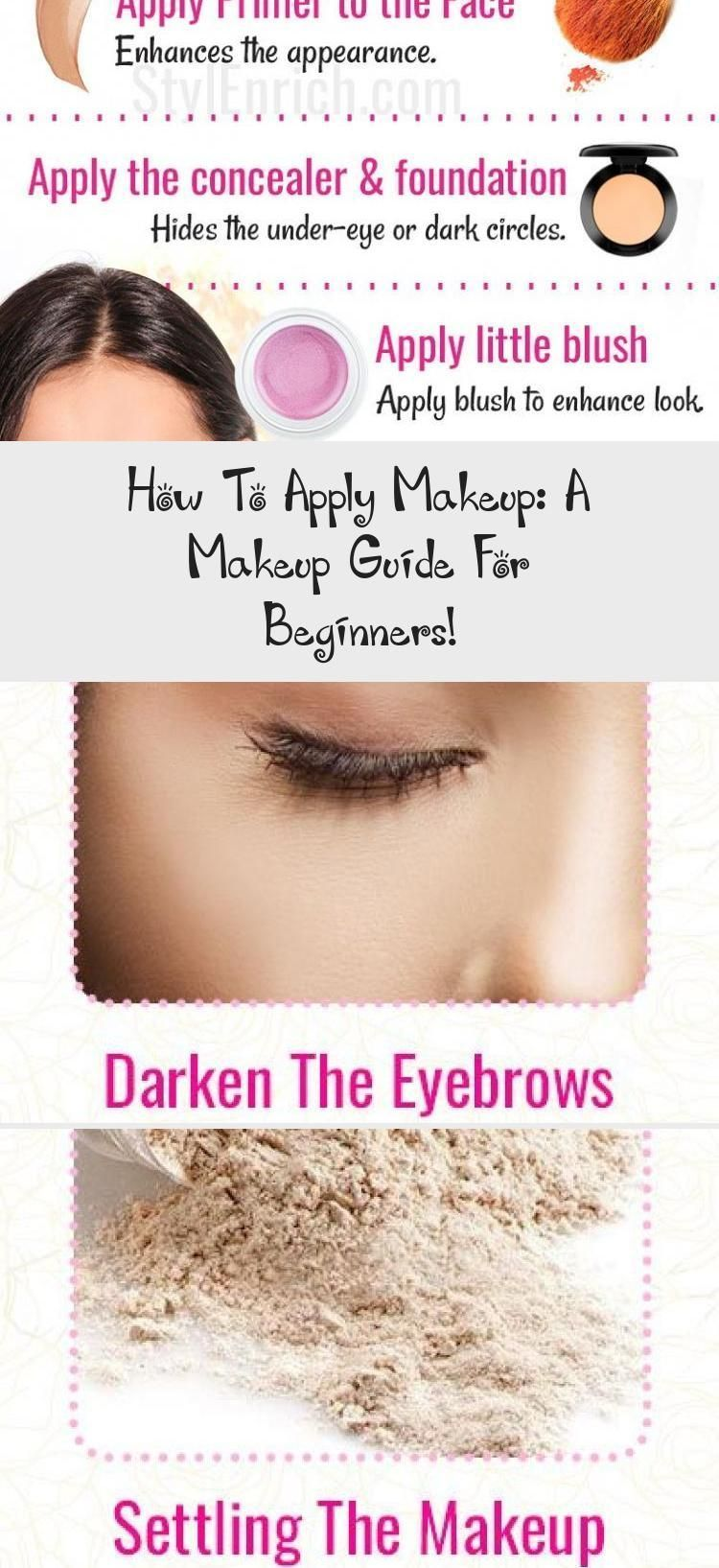 How To Apply Makeup A Makeup Guide For Beginners Makeup Howtoapplymakeup Yellow Blog App How To Apply Makeup Face Makeup Guide Makeup For Beginners