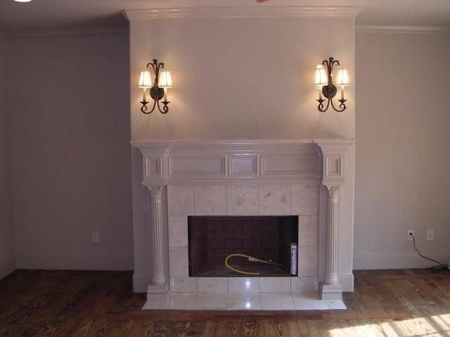 Fireplace Mantle with columns | House: Living Room | Pinterest ...