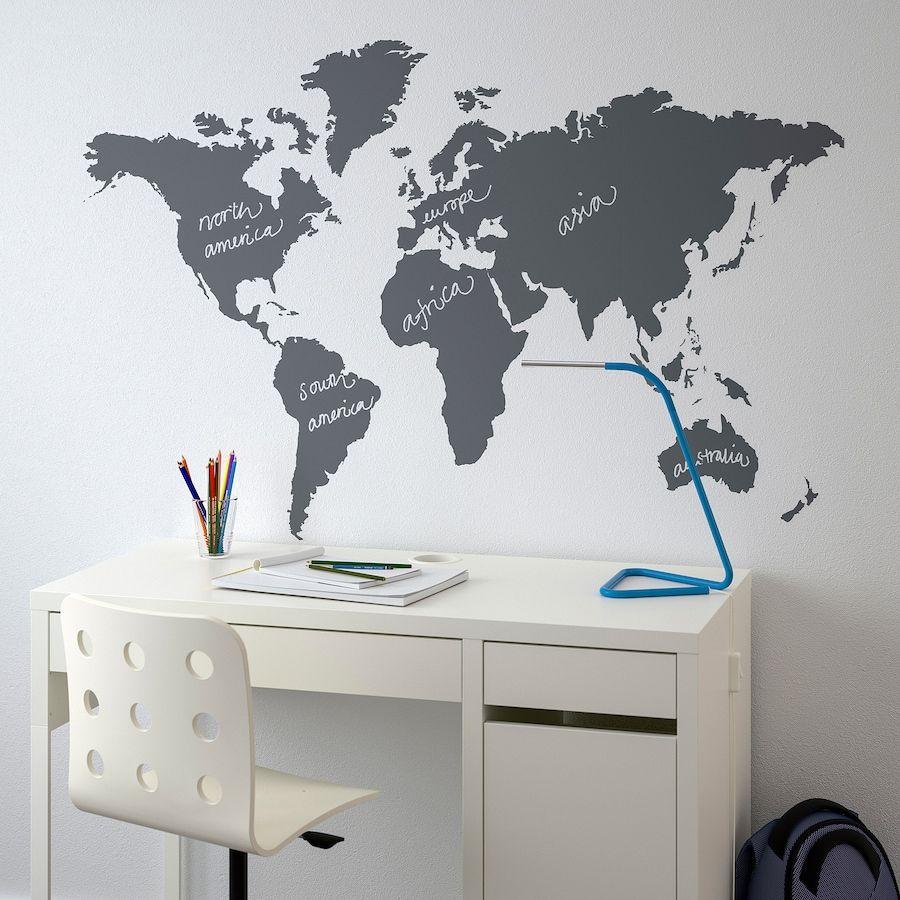 klÄtta blackboard world decoration stickers  ikea