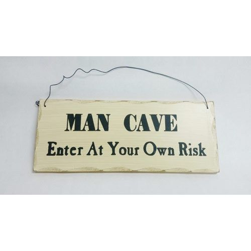 Americana Wall Decor Plaques Signs Man Cave Enter Own Risk Decorative Country Primitive Wall Sign