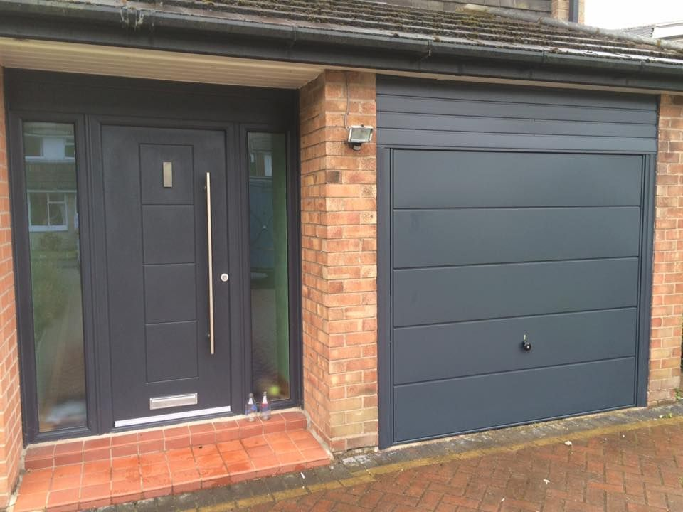 An Anthracite Grey Dakota Fitted With Two Matching Glass Side Panels
