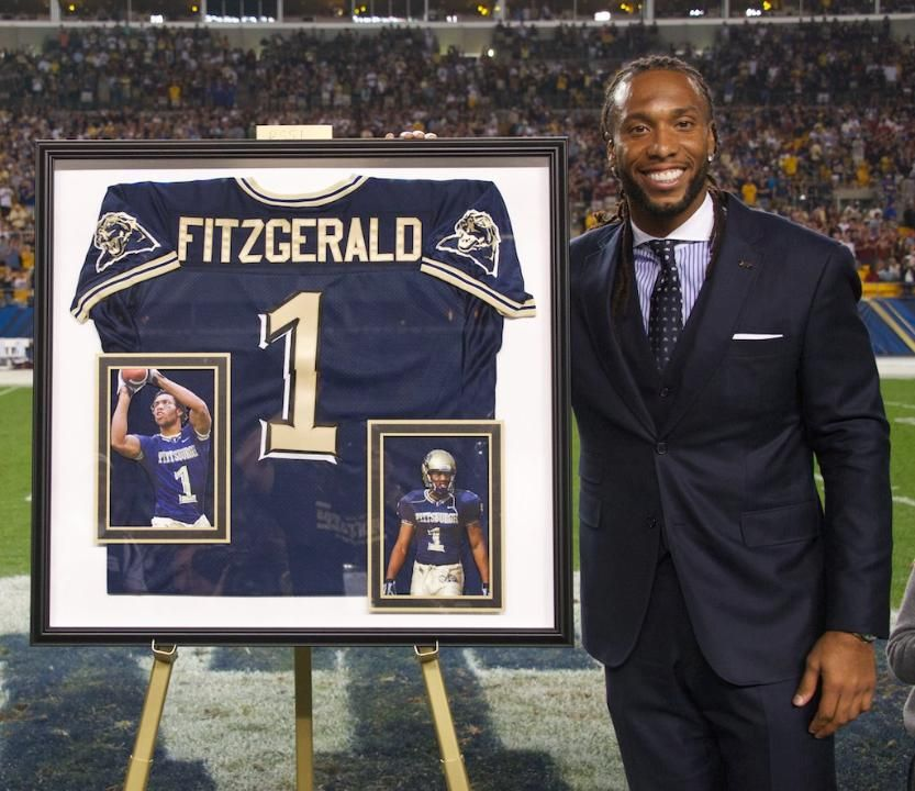 Larry Fitzgerald gets his Pitt number retired