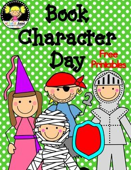 Free Book Character Day Book Character Day Teacher Book Character Costumes Book Characters
