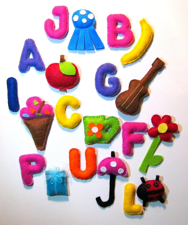 Alphabet Felt Letters Alphabet Game Number Felt Rainbow Alphabet Magnet Alphabet 84 50 Via Etsy Alphabet Games Felt Letters Lettering Alphabet