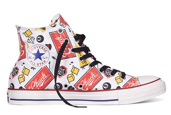 04a691d8ccb9df Converse Chuck Taylor All Star American Icon Pattern Print White High Tops  Canvas Shoes  converse  shoes