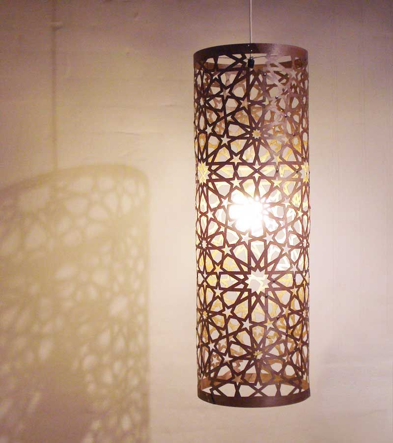 Storey St Artery Pendant Lamp In Islamic Design Home Decor - Carved wood lace like lighting design inspired islamic decoration patterns