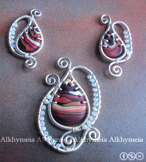 wire work with Polymer clay   jewelry making   Pinterest   Selfmade ...