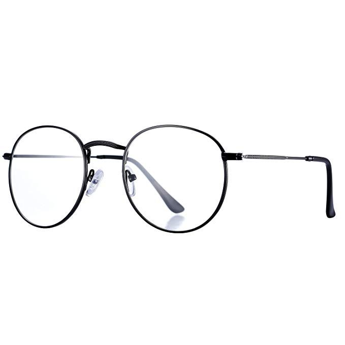 Pro Acme Classic Round Metal Clear Lens Glasses Frame