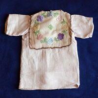 * Toll* Puppen - Leinenhemd mit Blumenstickerei *wunderschön*