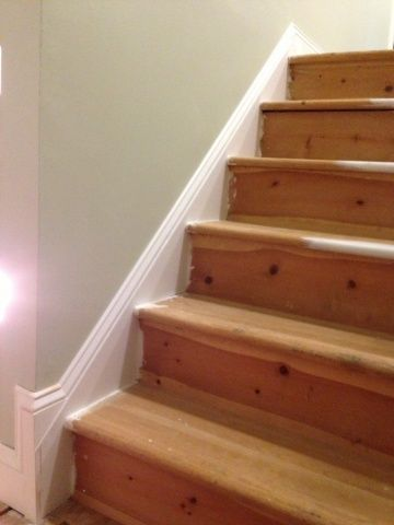 Chair Rail End Cap What Size Aeron Do I Need Trimming Stair Skirt - Page 2 Woodworking Talk Woodworkers Forum | Stairs In 2018 ...