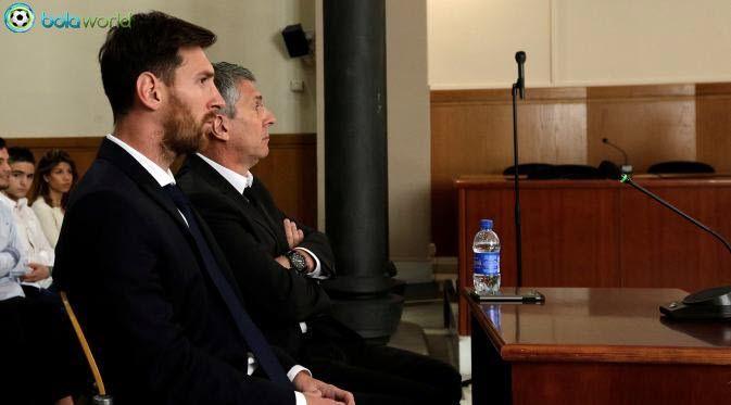Bola World – Game Online Bola -  Bintang sepakbola Argentina, Lionel Messi, sudah menjalani sidang pertamanya tentang penggelapan pajak sebesar 4.1 juta Euro atau sekitar Rp 62.6 Miliar. Download Bola World di goo.gl/q8vNFb