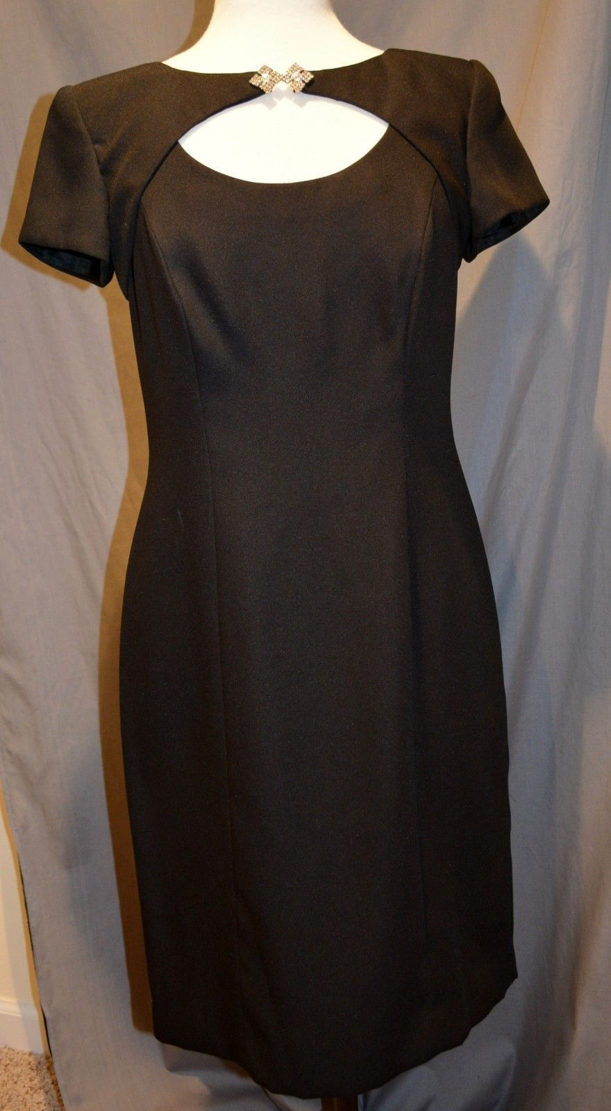 Cool awesome donna ricco new york little black evening formal