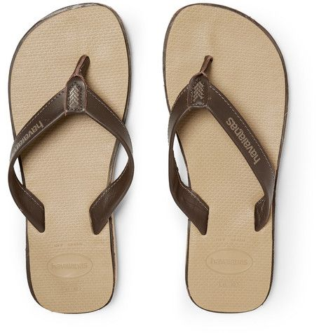 a690306b9 Havaianas - Urban Premium Leather and Rubber Flip Flops