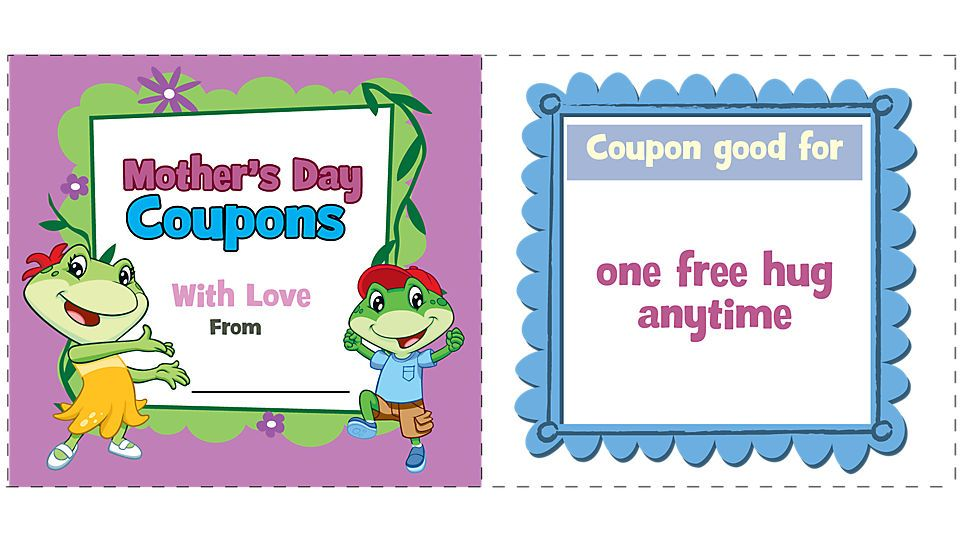 Motheru0027s Day coupons One free hug! What could be better? Print - free templates for coupons