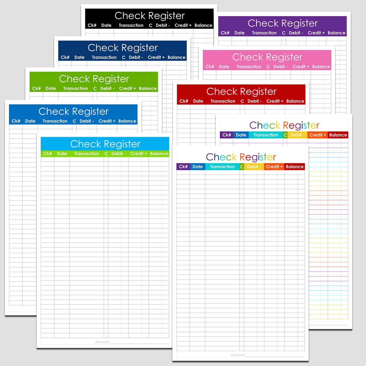 Checkbook Register