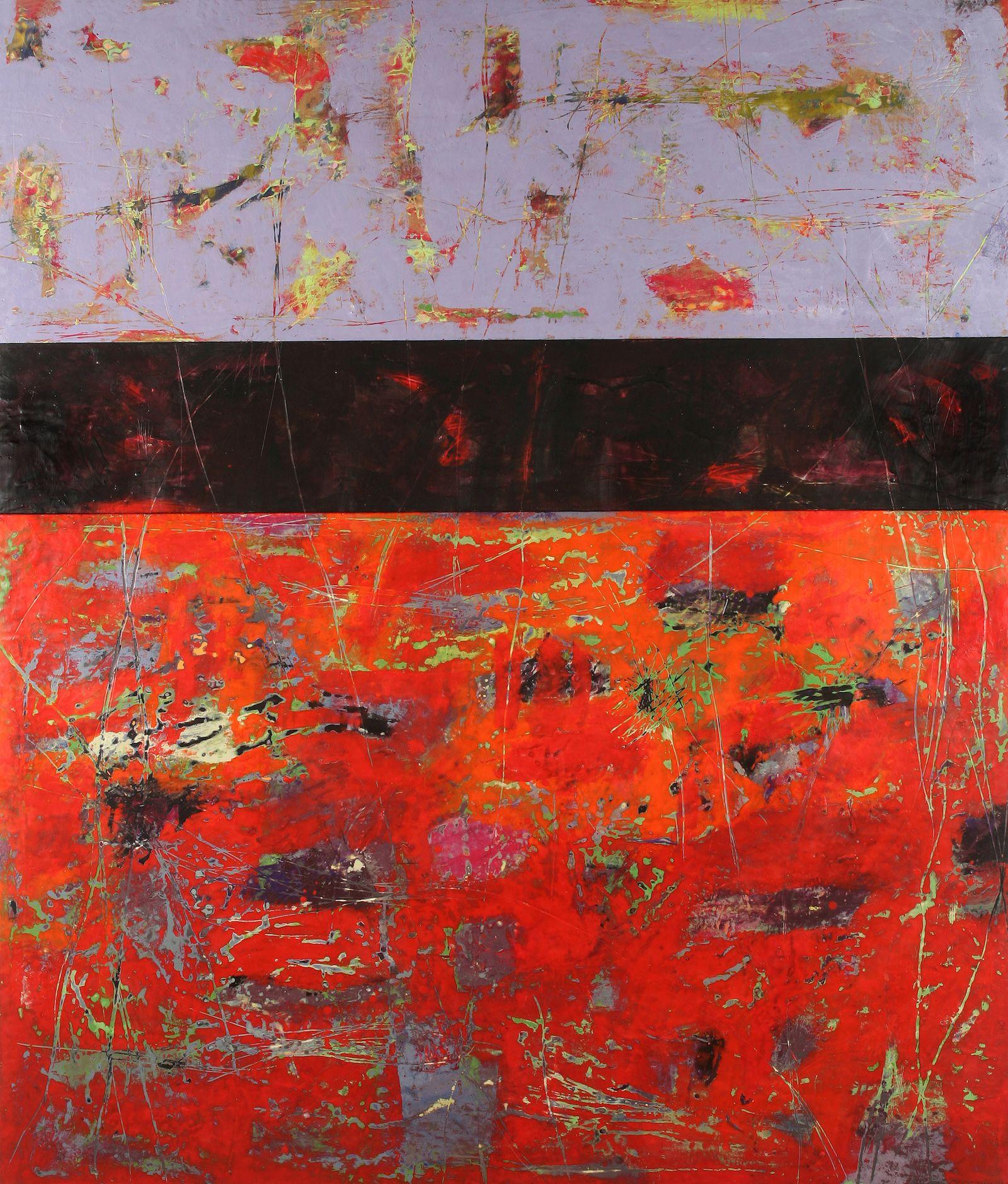 TRIPTYCH 2, 78x48 in, encaustic on plywood, 2010. Su Sheedy