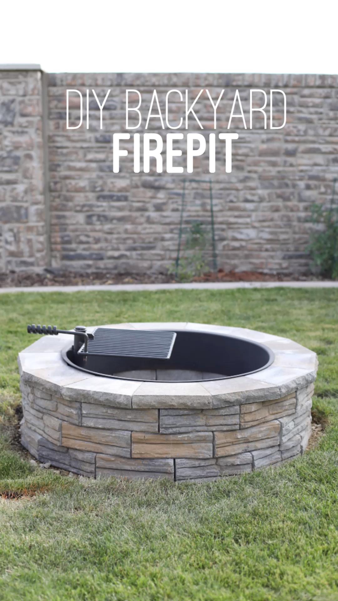 DIY backyard firepit. Summer night marshmallow roasts got an upgrade at our house. DIY backyard firepit tutorial using wall blocks. I had a 36