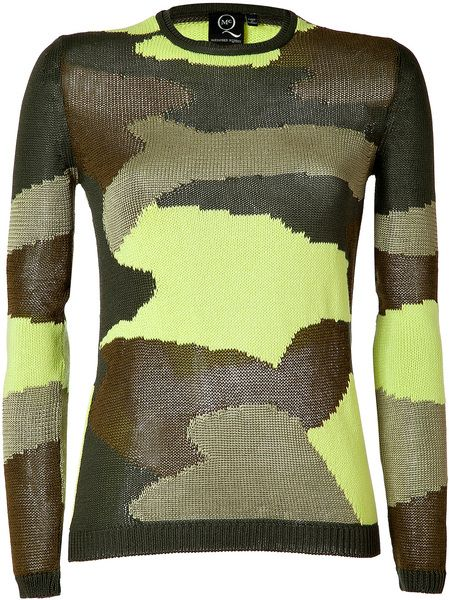 fe3b61dbc6 ALEXANDER MCQUEEN Military neon Camouflage Pullover - Lyst ...