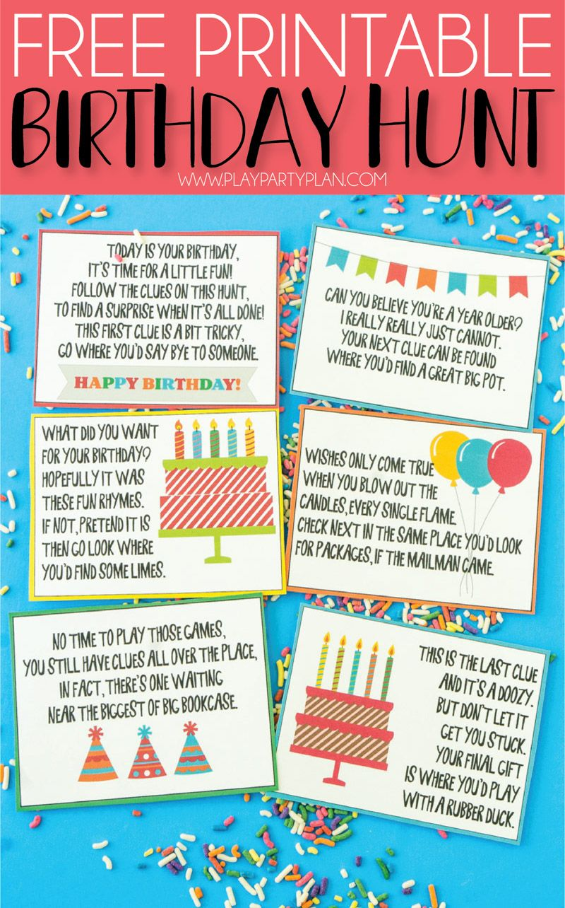 A Super Fun Birthday Scavenger Hunt Scavenger hunt
