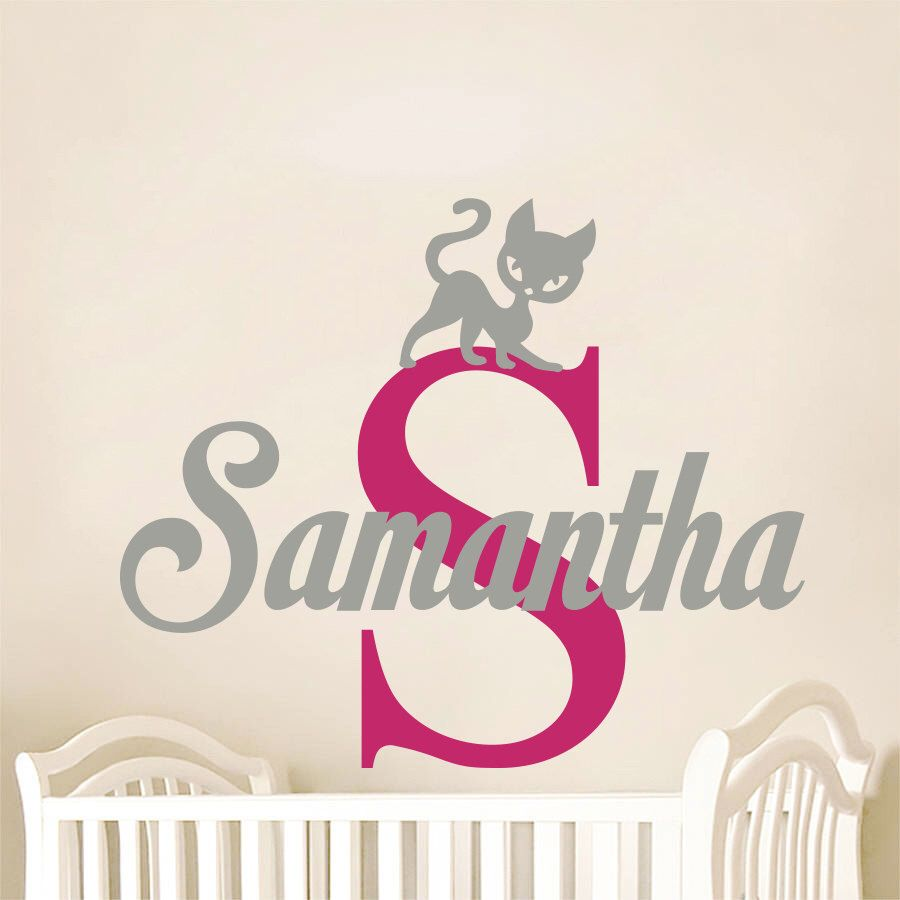 Wall Decal Personalized Girl Name Vinyl Sticker Decals Custom Name - Custom vinyl wall decals cats