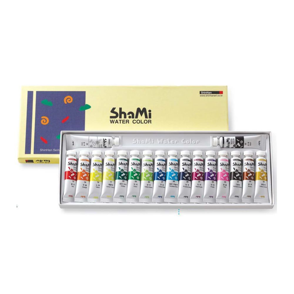 Details About Watercolor Paint Shinhan Shami Set 18 Colors 10ml