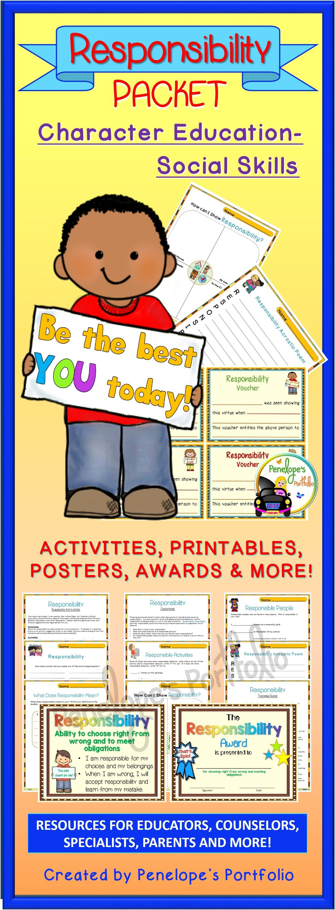 Responsibility Lesson Character Education Activities And