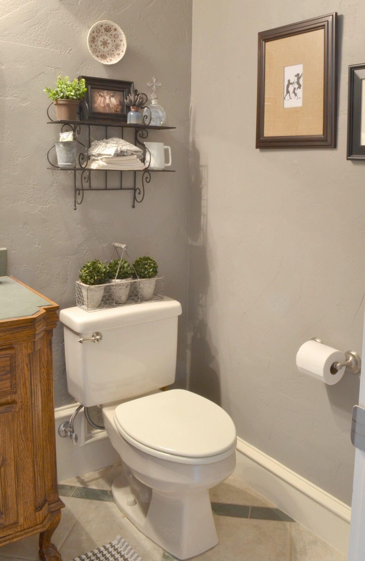 Wall Color Is Galveston Gray Benjamin Moore Powder Room