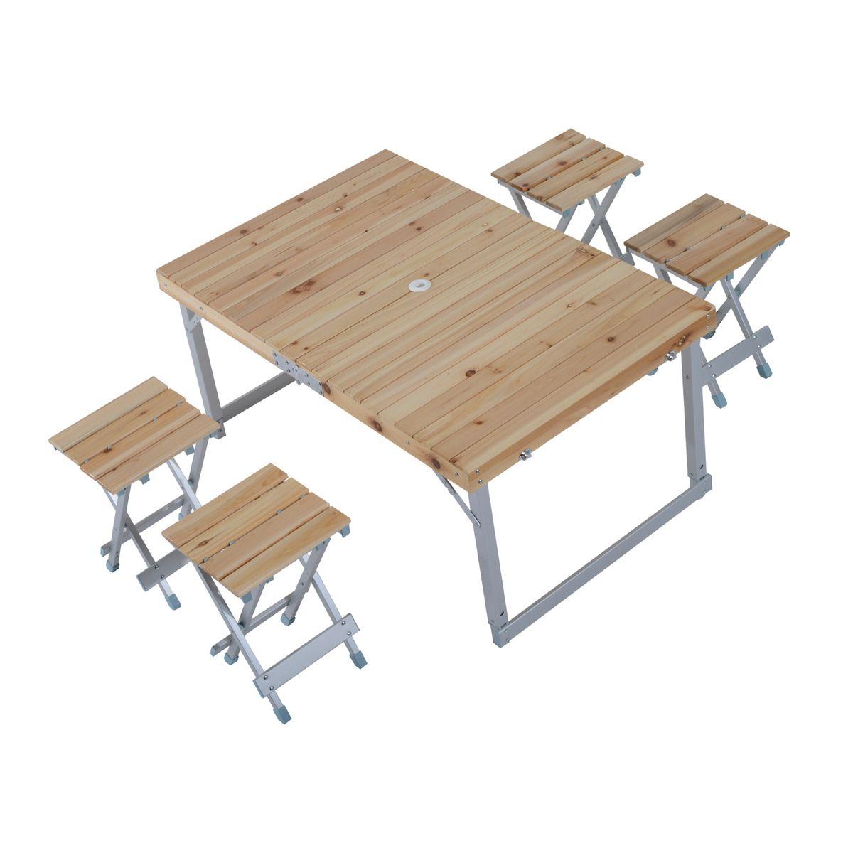 Table De Camping Pliante Portable Bois Table De Camping
