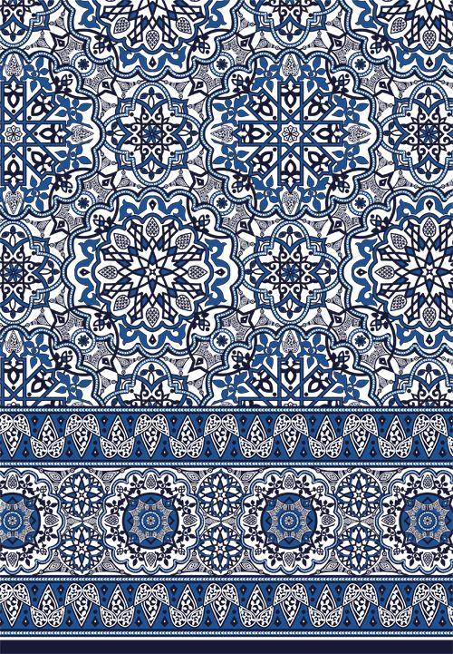 moroccan tile border print sophia
