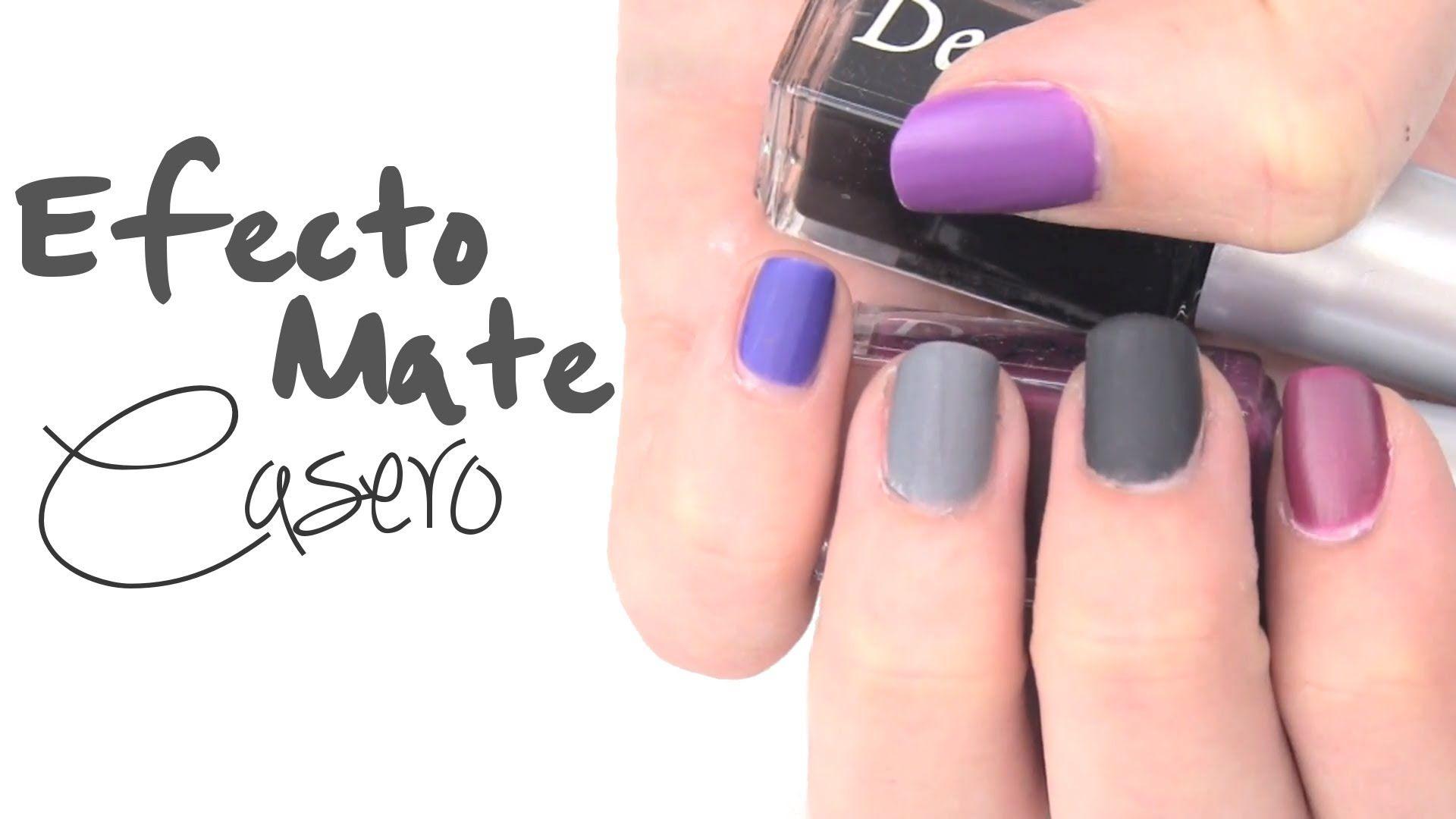 DIY: Esmalte de uñas casero mate | Nail art | Pinterest | Diseños de ...