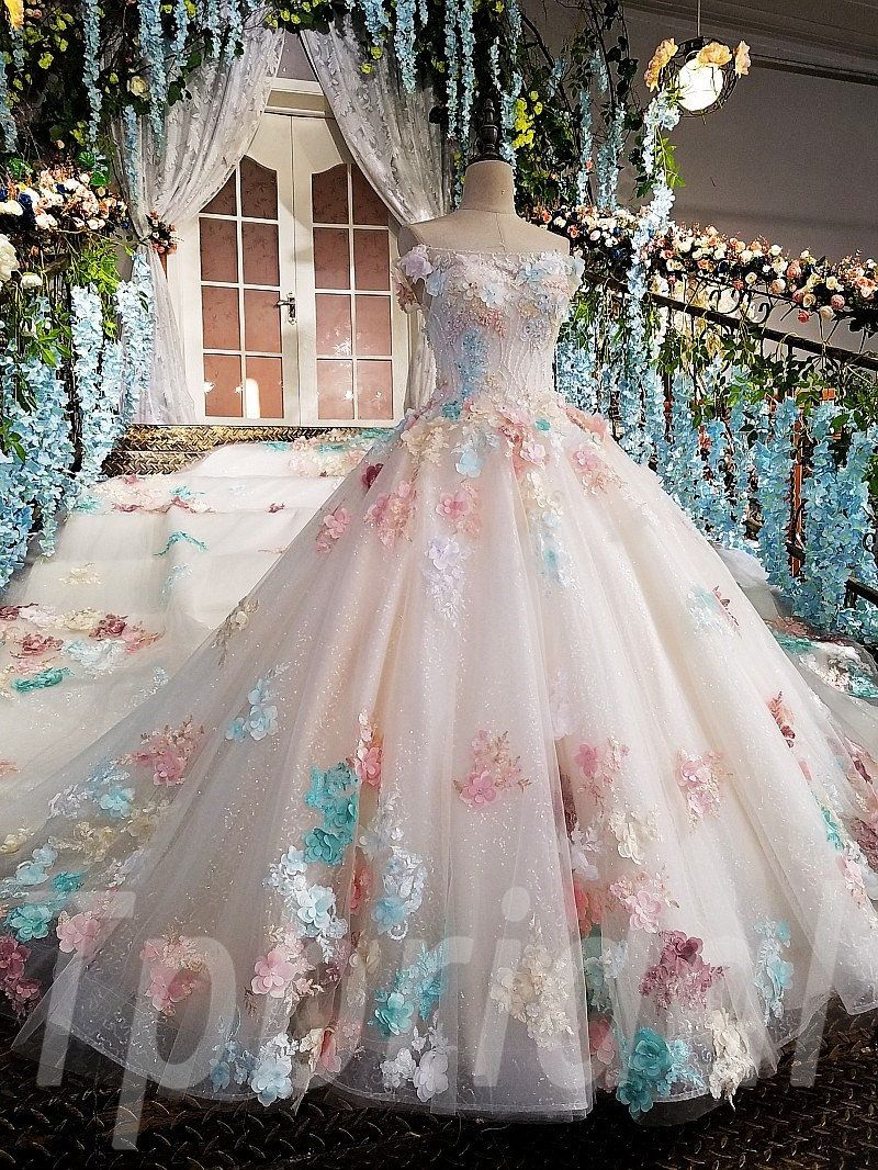 Pink Wedding Dress Ball Gown Prom Dress With Train For Sale Tpbridal Ball Gowns Ball Dresses Gowns